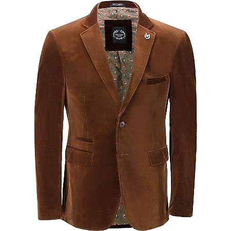 Xposed Mens Soft Corduroy Blazer Coat Vintage Retro Tailored Waistcoat