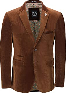 Mens Soft Corduroy Blazer Coat Vintage Retro Tailored Suit Jacket or Waistcoat