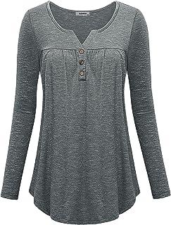 JCZHWQU Womens Long Sleeve Casual Sweatshirt
