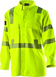 DRIFIRE High Performance FR Flame Resistant Hi-Vis Utility Shirt Electrical Industrial 7 oz. Lightweight CAT2