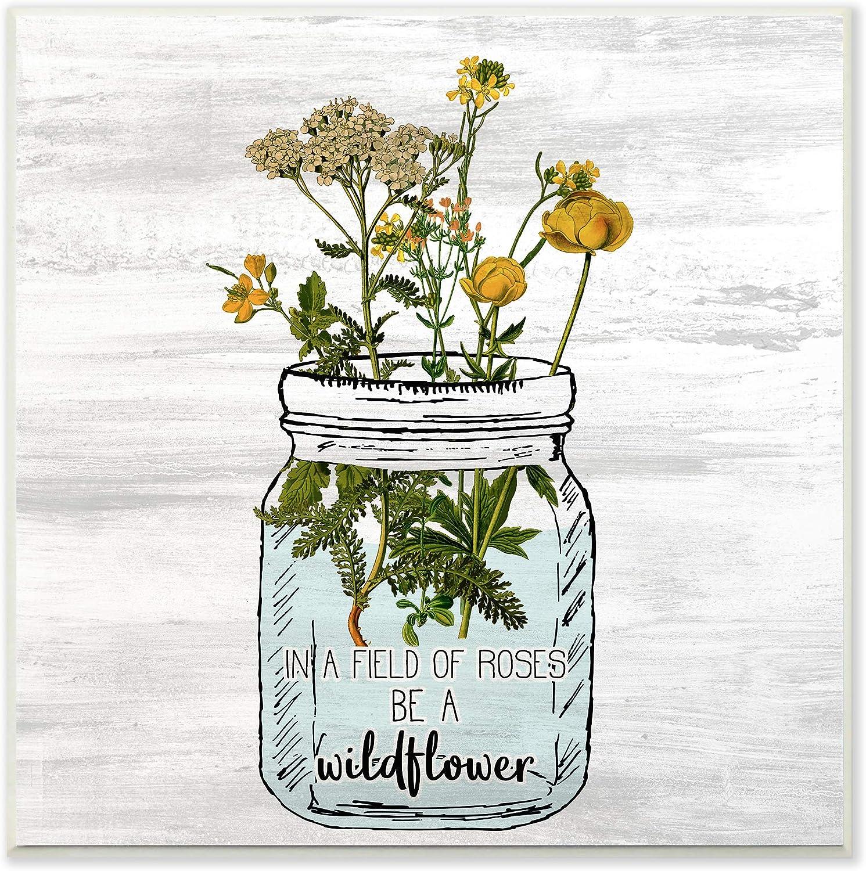 Stupell Industries Be A Wildflower Yellow a in Jar Popular standard Mason Flowers Import