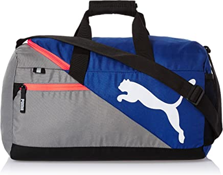 Puma Polyester Mazarine Blue and Red Blast Gym Bag (Multicolour)