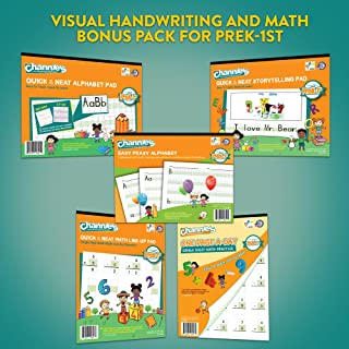 Channie's Visual Handwriting & Math Workbook Bonus Pack of 5 PreK-1st