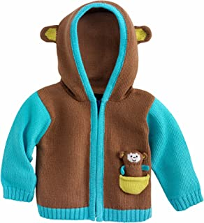 Joobles Fair Trade Organic Baby Cardigan Sweater - Mel The Monkey