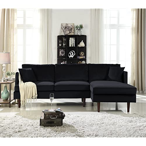 Black Sectional Couches: Amazon.com