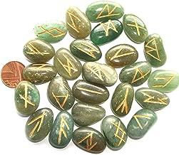 AzureGreen Magie rituelle am/éthyste ensemble de pierres runiques