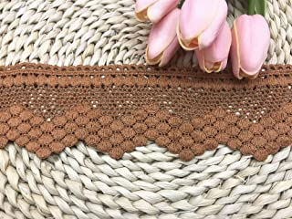 1yard DARK BROWN Fringe Quality Lace Trims 8 12inches or 21 12cm DropWide Scrapbooking Cardmaking Wedding Dresses Sewing Craft Trimmings