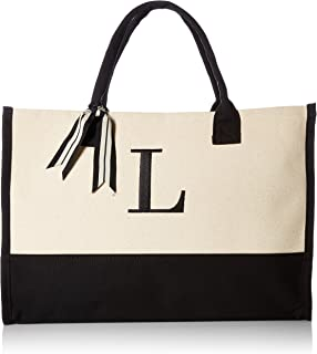 Mud Pie 501111 L-Initial Canvas Tote