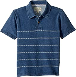 Lucky Brand Kids Short Sleeve Printed Polo (Little Kids/Big Kids)