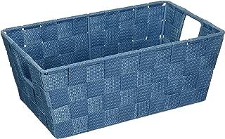 Whitmor Woven Strap Small Shelf Tote Berry Blue