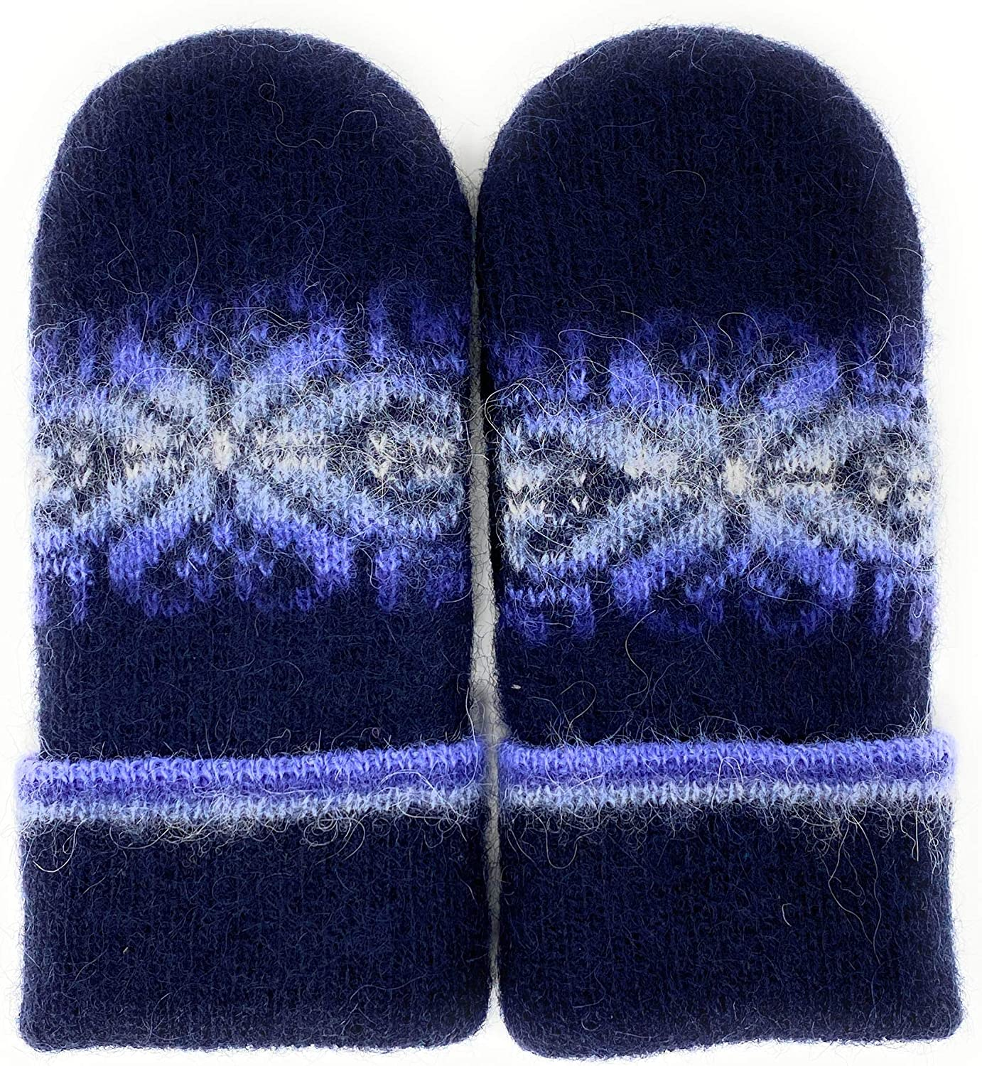 Wool Mittens for Women and Men with Fleece Lining Fingerless Made of 100% Icelandic Wool by Freyja Canada