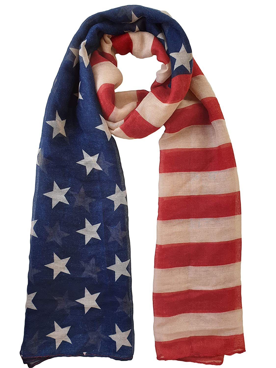 American Cheap super special price Flag Print Free shipping / New Scarf USA Shawl Wrap Khaki Red Blue and