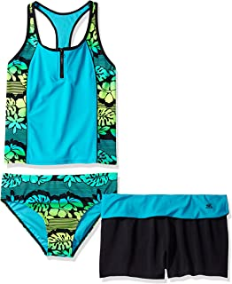 ZeroXposur Girls Plus Size' Mahalo Zipline 2pc Tankini W/Short
