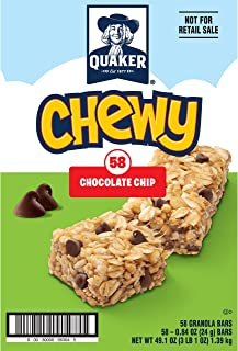 Best Quaker Chewy Granola Bars, Chocolate Chip, (58 Pack) Reviews