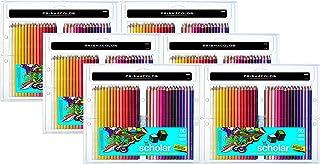 Prismacolor 92808HT Scholar 60 支彩色铅笔;柔软光滑的铅笔适合混合和着色;?#19981;?#26680;心抗破裂;丰富、鲜艳的颜料颜色 6-Packs of 60ea Pack / 360 Total Assorted Multicolor
