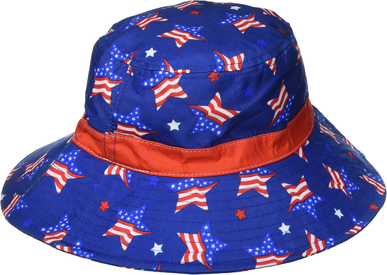Amscan American Summer Fourth of July Women's Patriotic Bucket Hat Accessory Fabric 4  x 10  Costume for Kids