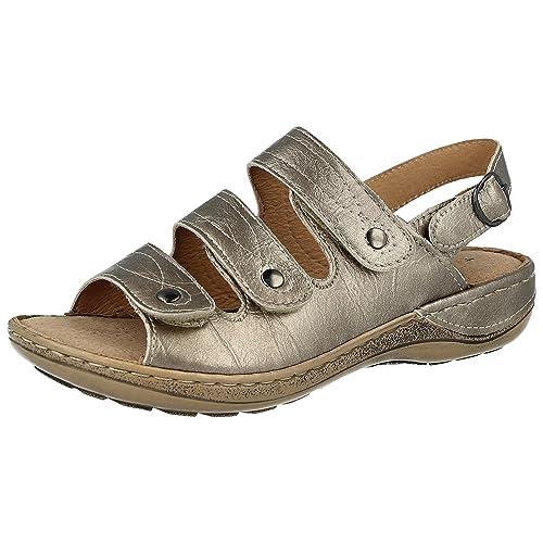 53cc1b87ade88d Cushion Walk Ladies Faux Suede Laser Cut Tbar Diamante Open Toe Touch Close  Slingback Summer Sandals