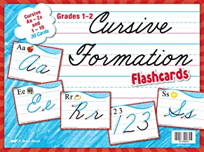 Cursive Formation Flashcards - Abeka 1st and 2nd Grade 1 and 2 Cursive Penmanship Teaching Aids