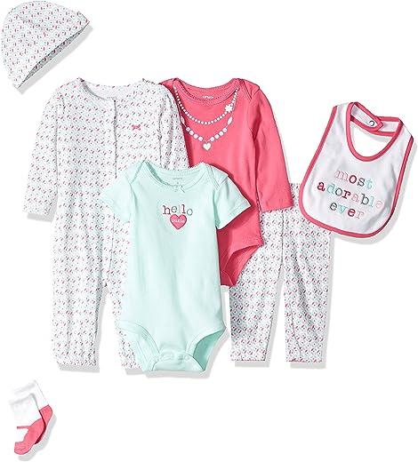 طقم ملابس داخلية للفتيات الرضع مكون من 7 قطع من كارترز