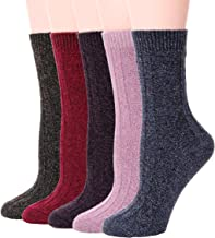 Womens Wool Socks Warm Soft Cabin Cotton Work Duty Boot Winter Socks For Cold Weather 5 Pairs