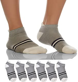 Sockyfy |Pack of 6|Unisex Socks- Athletic Ankle Extra Mesh Cotton Socks for Men and Women Free Size - Pack of 6 - Black an...