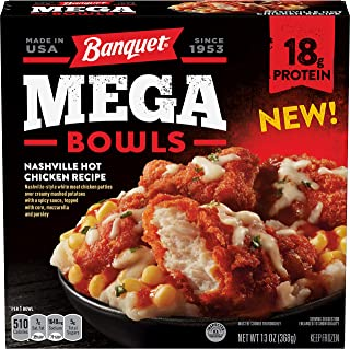 Banquet Mega Bowls Nashville Hot Fried Chicken, Packed with Protein, 13 Ounce