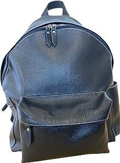 BISBAG, zaino grande unisex in vera pelle pregiata e riciclata, borsone fatto a mano a Firenze da abili artigiani, Made in...