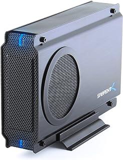 Sabrent USB 2.0/ESATA TO 3.5 Inch IDE or SATA/SATA II Aluminum Hard Drive Enclosure Case with Cooling Fan (EC-UEIS7)