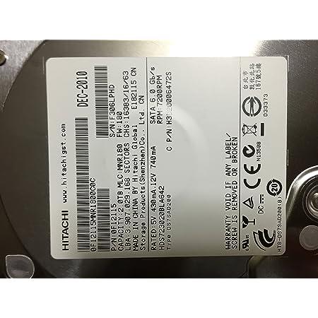 HGST HDS723020BLA642 3.5インチ HDD SATA/2TB/7200rpm/64MB/BULK SerialATAⅢ6Gbps