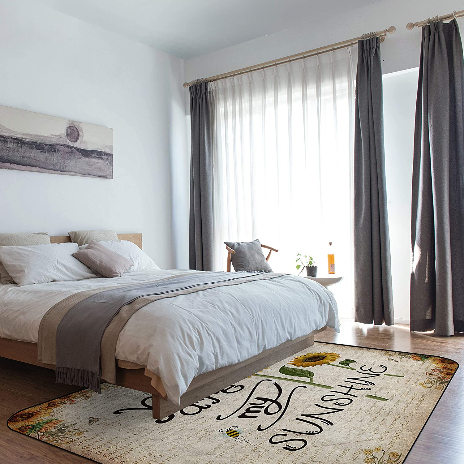 Untra Soft Large Area Rug for are Bedroom Sunflo Minneapolis Seattle Mall Mall My Sunshine You