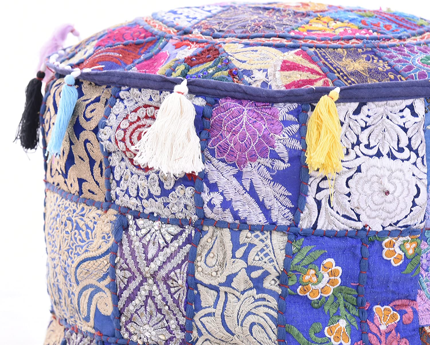 iinfinize18x14 Patch Special price for a limited time Work Dallas Mall Ottoman Pouf CoverTraditional Vintage