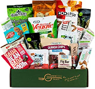 VEGAN Healthy Snack Box Variety Pack [20 Count] Holiday Gift Baskets for Christmas, New Years, College Students | Plant-ba...