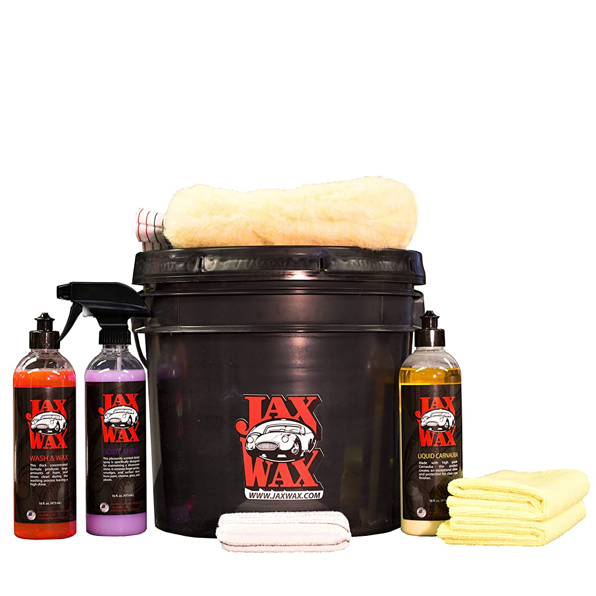 Jax Wax Professional Easy Wash and Wax Car Care Bucket Organizer Kit