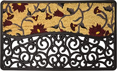 glooke Selected Doormat, Rubber, Multicoloured, One
