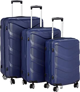 Stractic hard case trolley 3 pcs set with 4 wheel 9705-Blue