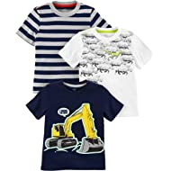 Toddler Boys' 3-Pack Short-Sleeve Graphic Tees