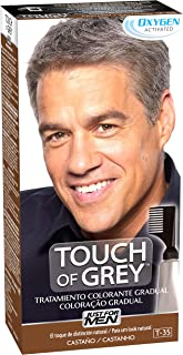 Just for men Touch of Grey Tinte Pelo Reductor de Canas para Hombres Reduce parcialmente las Canas Castaño 40 g (8.41...