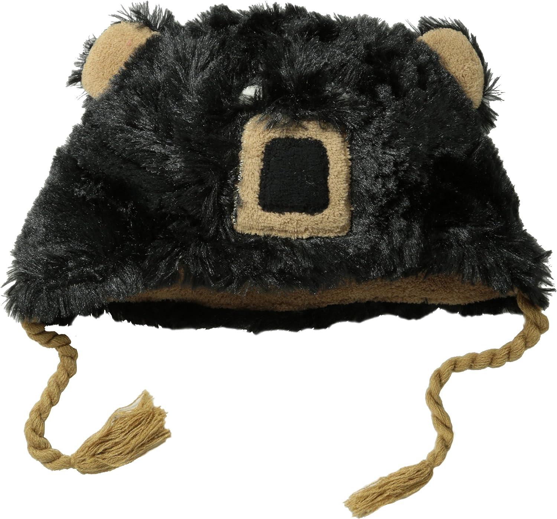 Hatley Little Boys' Fuzzy Fleece Hats-Bear