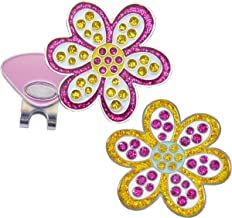 Navika Oopsy Daisy Purple and Oopsy Daisy Yellow Glitzy Ball Marker Combo with ONE Magnetic Hat Clip