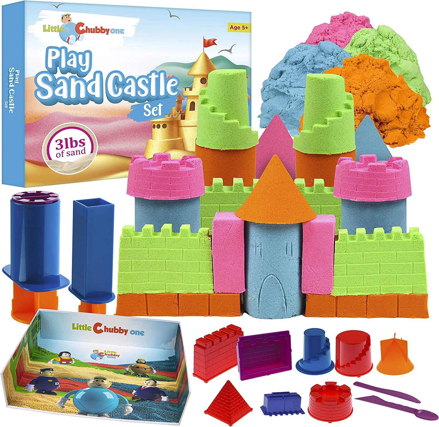 LITTLE CHUBBY ONE Kids Play Sand Castle Lbs M - Max 59% OFF Cheap mail order specialty store Set 3 Toy
