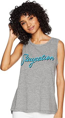Sleeveless Mocktwist Staycation Tank Top