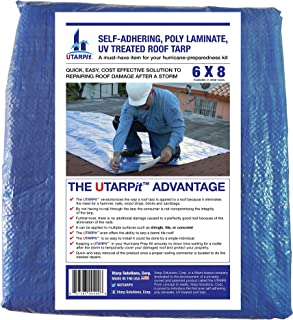UTARPit 6 ft. x 8 ft. Blue Roof Tarp
