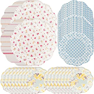 Talking Tables Truly Scrumptious Floral Paper Doilies for a Tea Party, Multicolor (48 Pack)