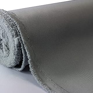 Waterproof Canvas Fabric Outdoor 600 Denier Indoor/Outdoor Fabric by The Yard PU Backing UV Protector Canvas Marine Awninig Fabric Silver (5 Yards)