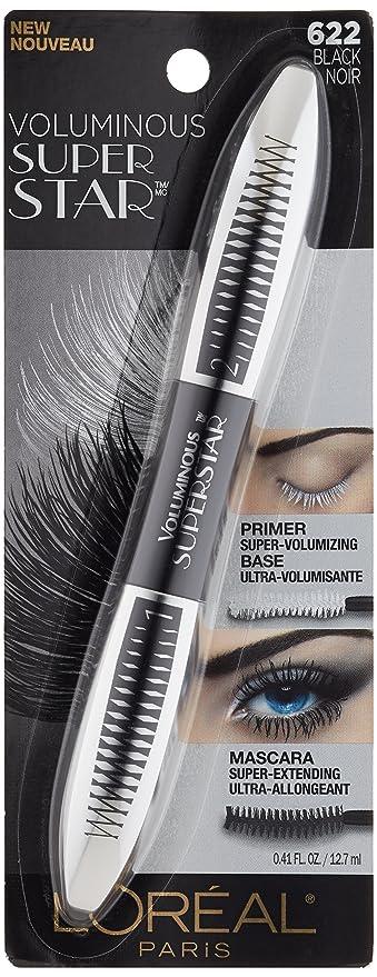 L'Oréal Paris Voluminous Superstar Washable Mascara, Black, 0.41 fl. oz.