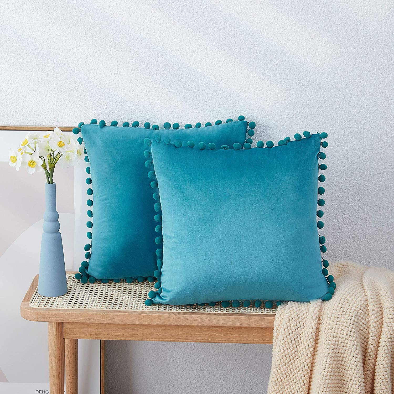 Boomfan Boho Decorative Velvet Throw Luxury Pillow 18x18 Popular popular with Covers Po
