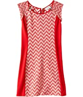 Us Angels - Two-Tone Double Knit Raglan Cut Out Sheath (Big Kids)