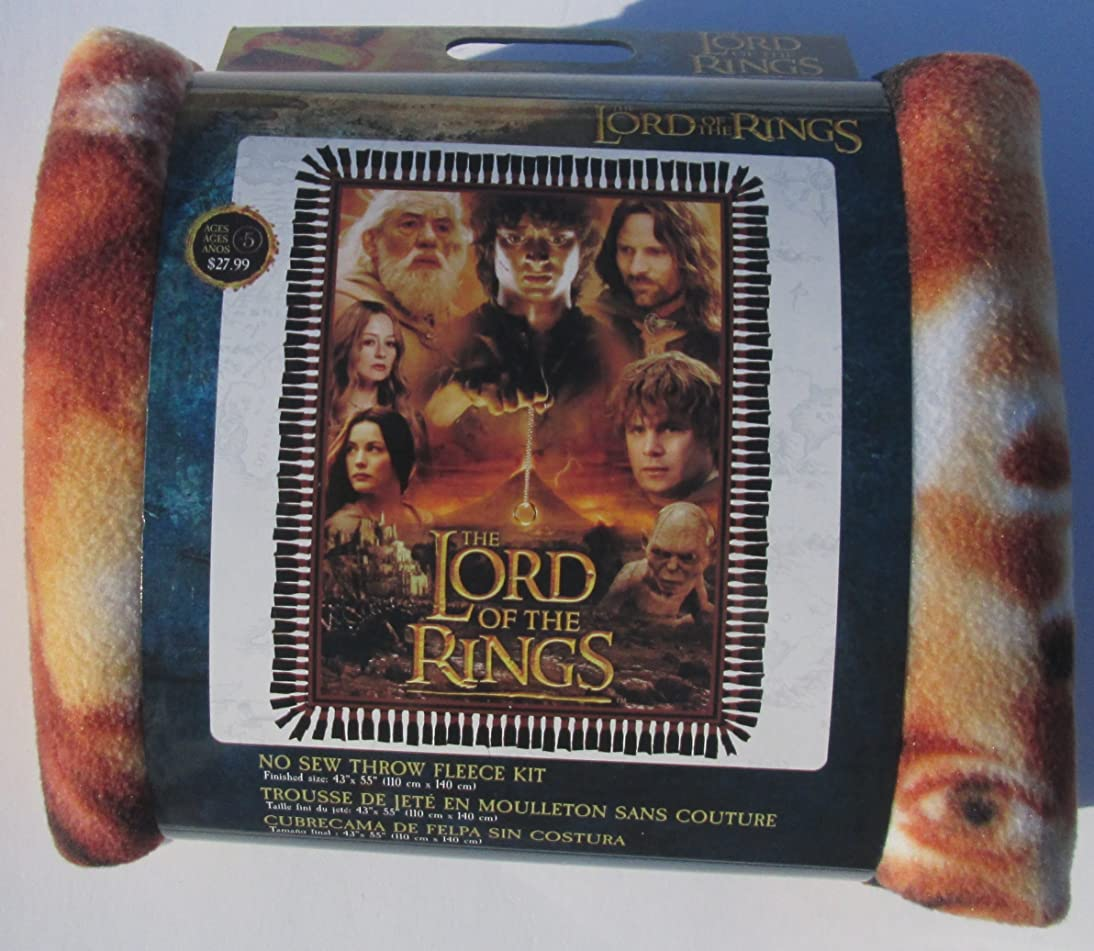 Lord of the Rings - No Sew Throw Fleece Kit - finished size 43