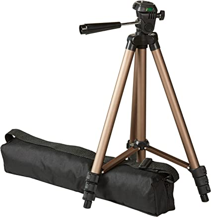AmazonBasics Lightweight Camera Mount Tripod Stand With Bag - 16.5 - 50 Inches