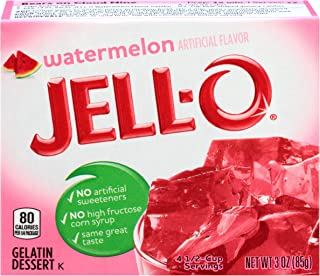 JELL-O Watermelon Gelatin Dessert Mix (3 oz Boxes, Pack of 24)